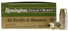 40 S&W Remington Golden Saber 165gr